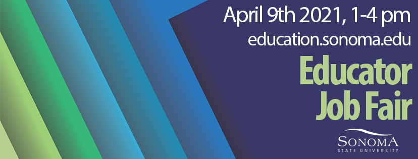Job Fair Banner Colorful Boxes April 9th 2021 from 1 to 4pm education.sonoma.edu